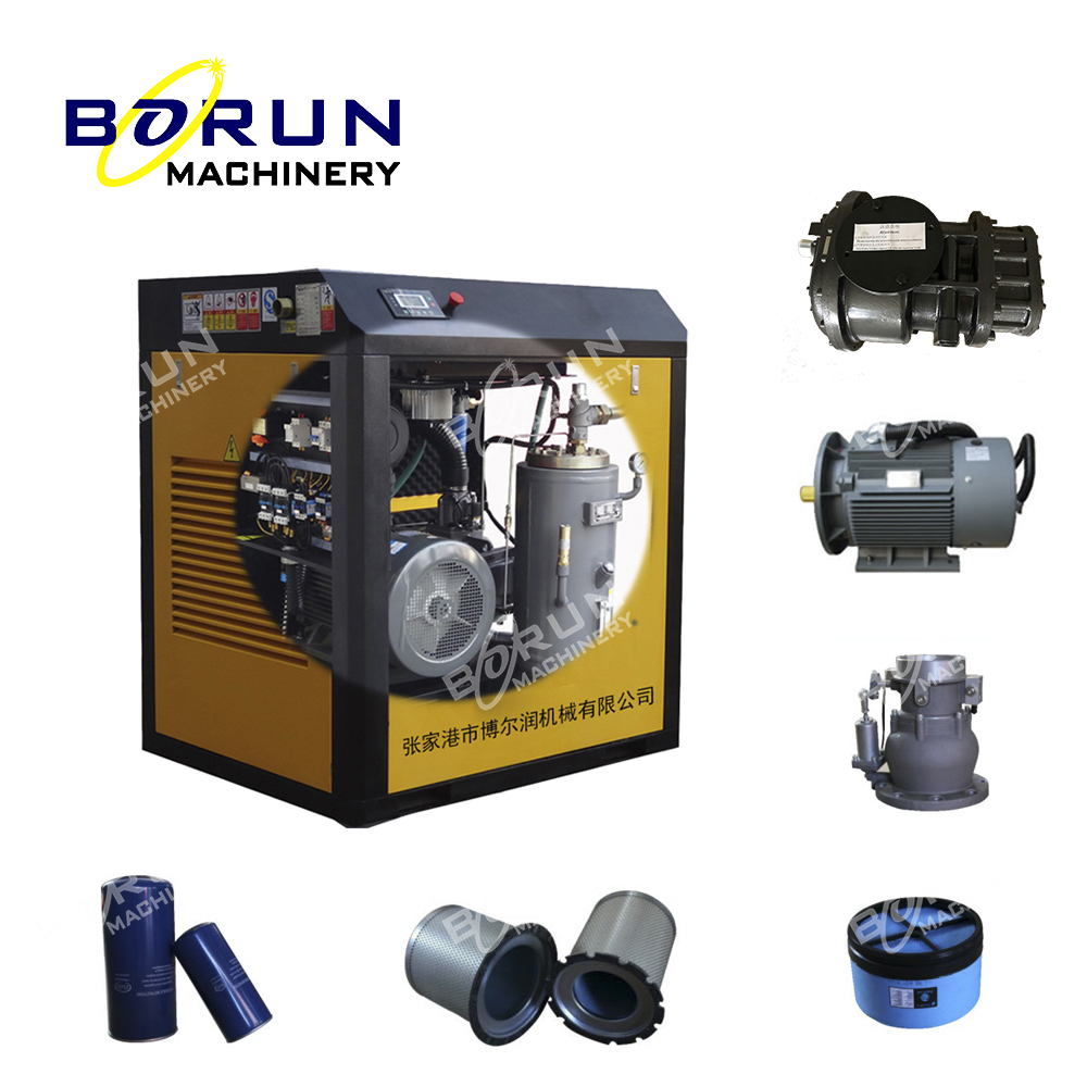 Good Quality Cheap 7-13 bar Rotary Twin Screw Type Air / Gas Compressor