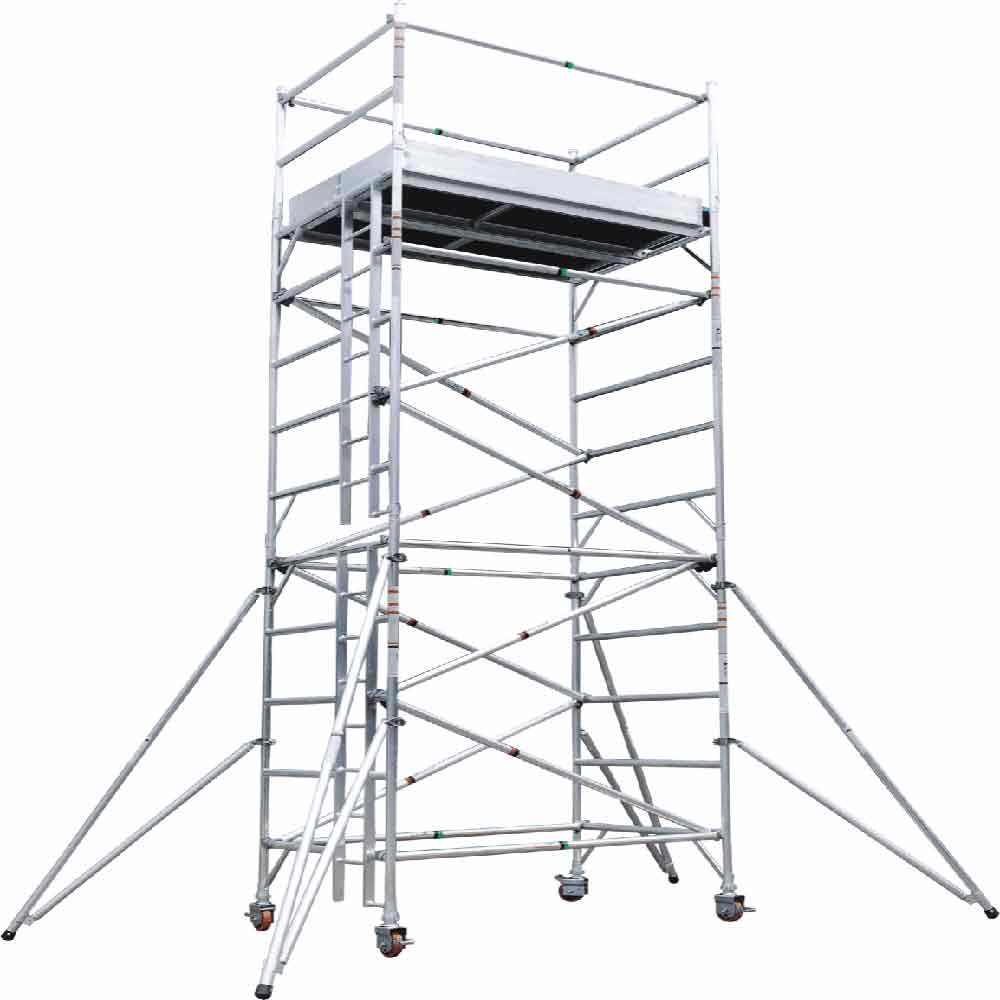 Used fiberglass aluminium mobile scaffolding system for sale