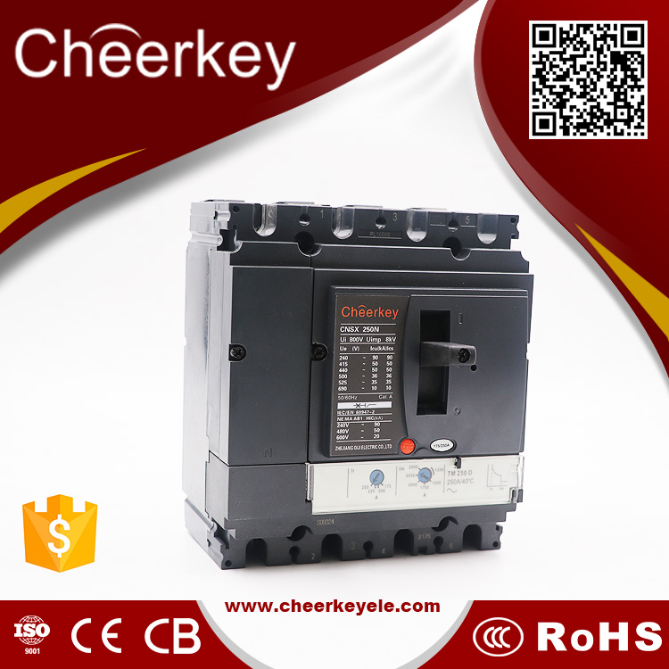 china suppliers CNSX 250N 180a circuit breaker mccb