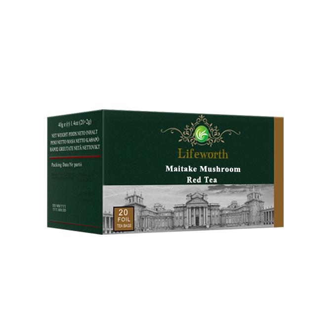 Lifeworth maitake mushroom extract organic detox red tea bag - 4uTea | 4uTea.com