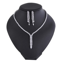 Cubic Zirconia jewelry set,Bridal fine jewelry