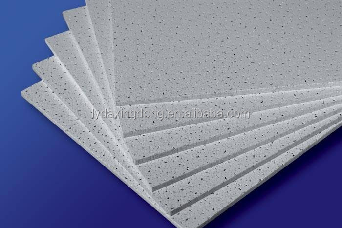 600*600 595*595 Suspended Ceiling Mineral Fiber Acoustic Ceiling ...