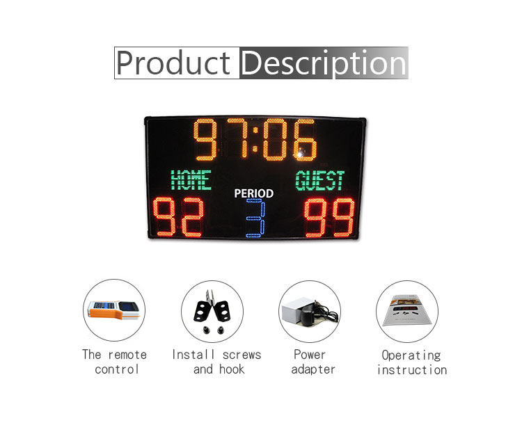 [Ganxin]Alibaba China Led Volleyball electronic registration plate for Football / Basketball / Soccer electronic billiard scoreb