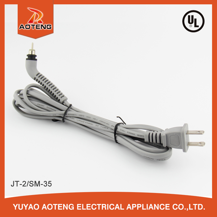 UL 2 pin nispt-2 swivel power cord for hair dryer