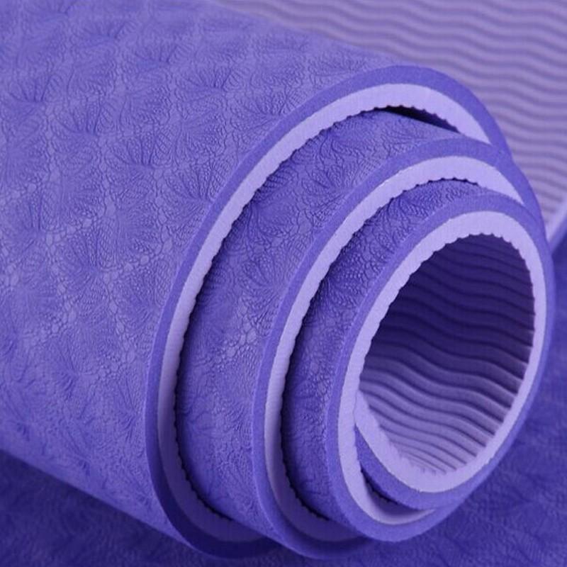 ग्राउंडिंग रंगीन पिलेट्स उत्कीर्णन शरीर संरेखण पर्यावरण के अनुकूल गैर-चीन से पर्ची 8mm tpe योग चटाई और मैट oem