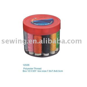 D & D Polyester Thread Box With 12 * 50 Yarn Box