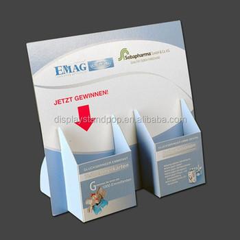 Custom printed cardboard leaflet holdercardboard brochure holder with two pockets buy for Cardboard brochure holder