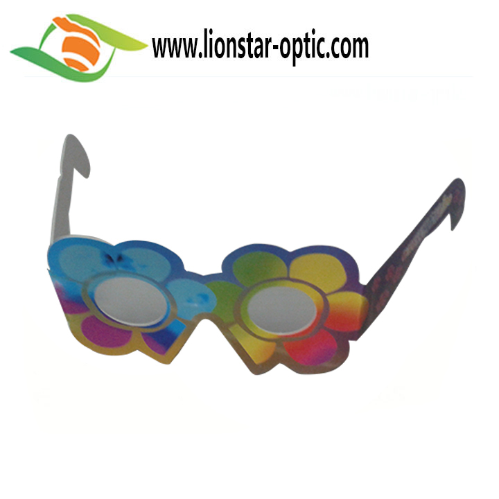 2020 New Year Promotion Branded Paper Diffraction Glasses Lover Heart Effect Fireworks Glasses