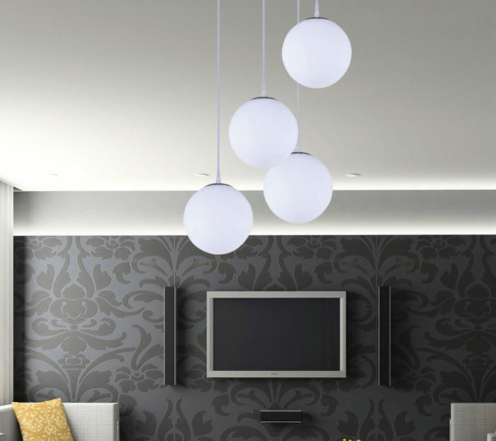 Modern House E27 Ul E27 Glass Globe Pendant Light With Great Price ...