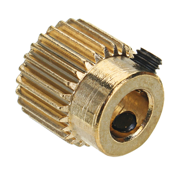 Factory customized high precision brass extrusion wheel cnc turning parts for 3d printer