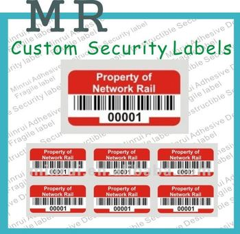 Custom Cannot Remove Ultra Destructible Vinyl Asset Labels