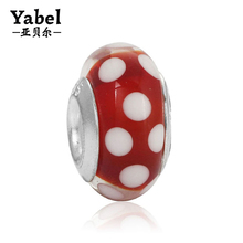 Alibaba hot sale silver plating jewelry large hole eurpopeanbead landing crafting beads ENM060