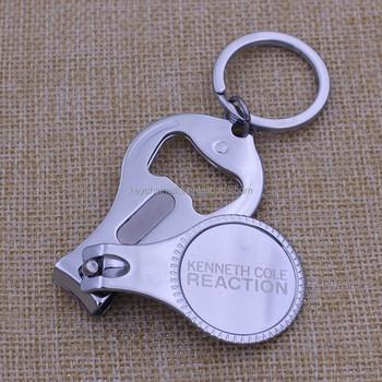 78ea0fb428d0 Promotion cadeau en acier au carbone porte-clés coupe-ongles avec  décapsuleur