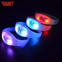 New Product SUNJET LED Bracelet Custom Logo DMX Controlled LED Wristband With Removable Battery