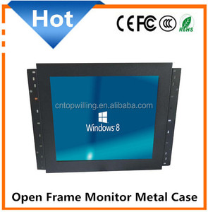 "high quality 15"" Open frame LCD tft monitor with metal case housing"