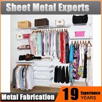 Customized wire Closet Organizer adjustable freestanding modular wardrobe system