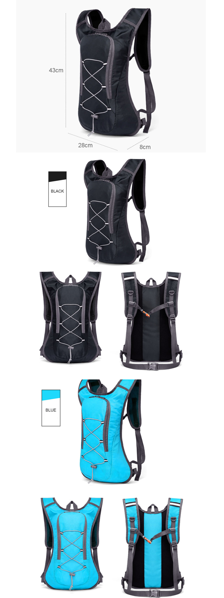 Osgoodway2  Waterproof Mountain Sport Cycling Running Hydration Backpack with 2L Water Bladder