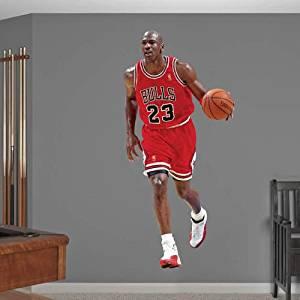the best attitude d1d46 d0b30 Get Quotations · Michael Jordan FATHEAD Chicago Bulls Official NBA Vinyl  Wall Graphic LIFE-SIZE