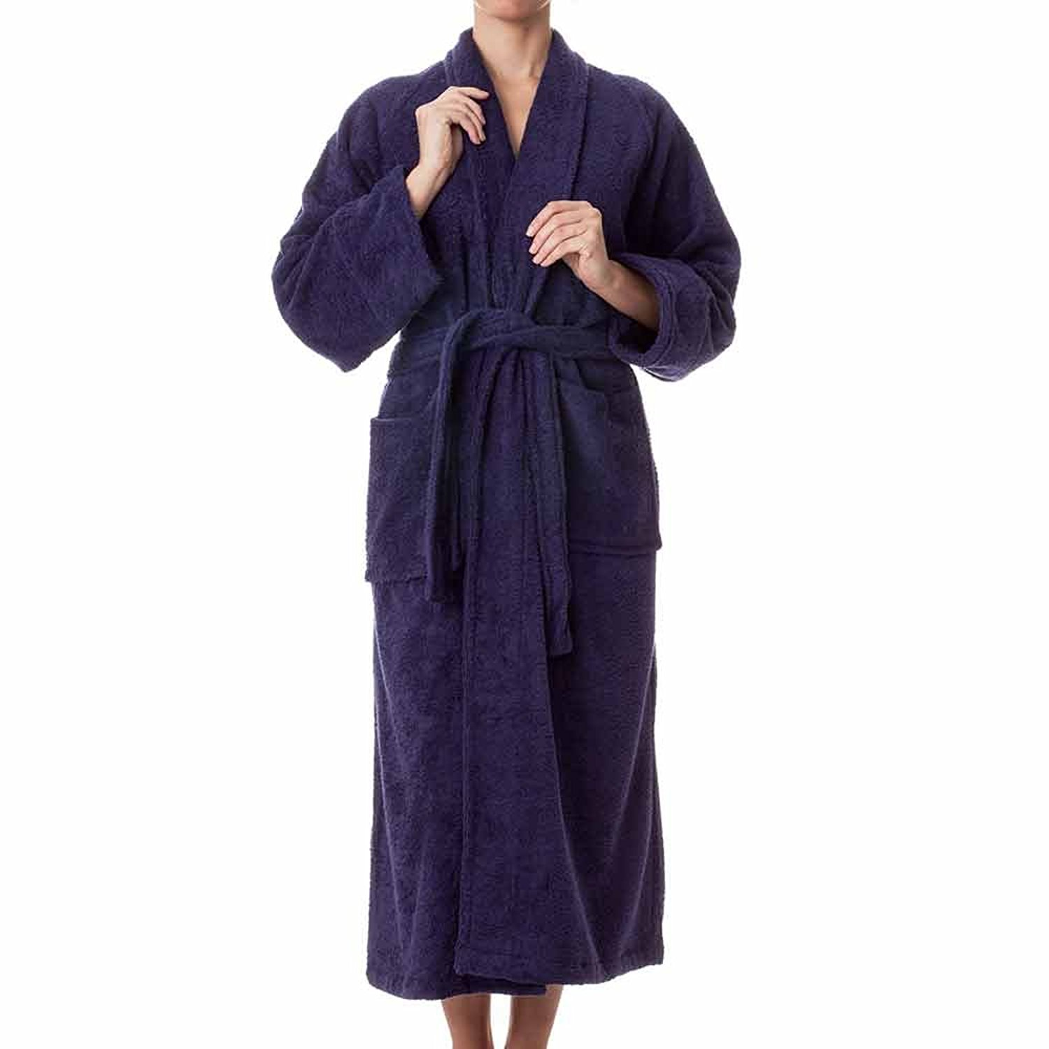 2961ad4490 Unisex Terry Cloth Bathrobe- 100% Long Staple Cotton Hotel Spa Robes -  Classic
