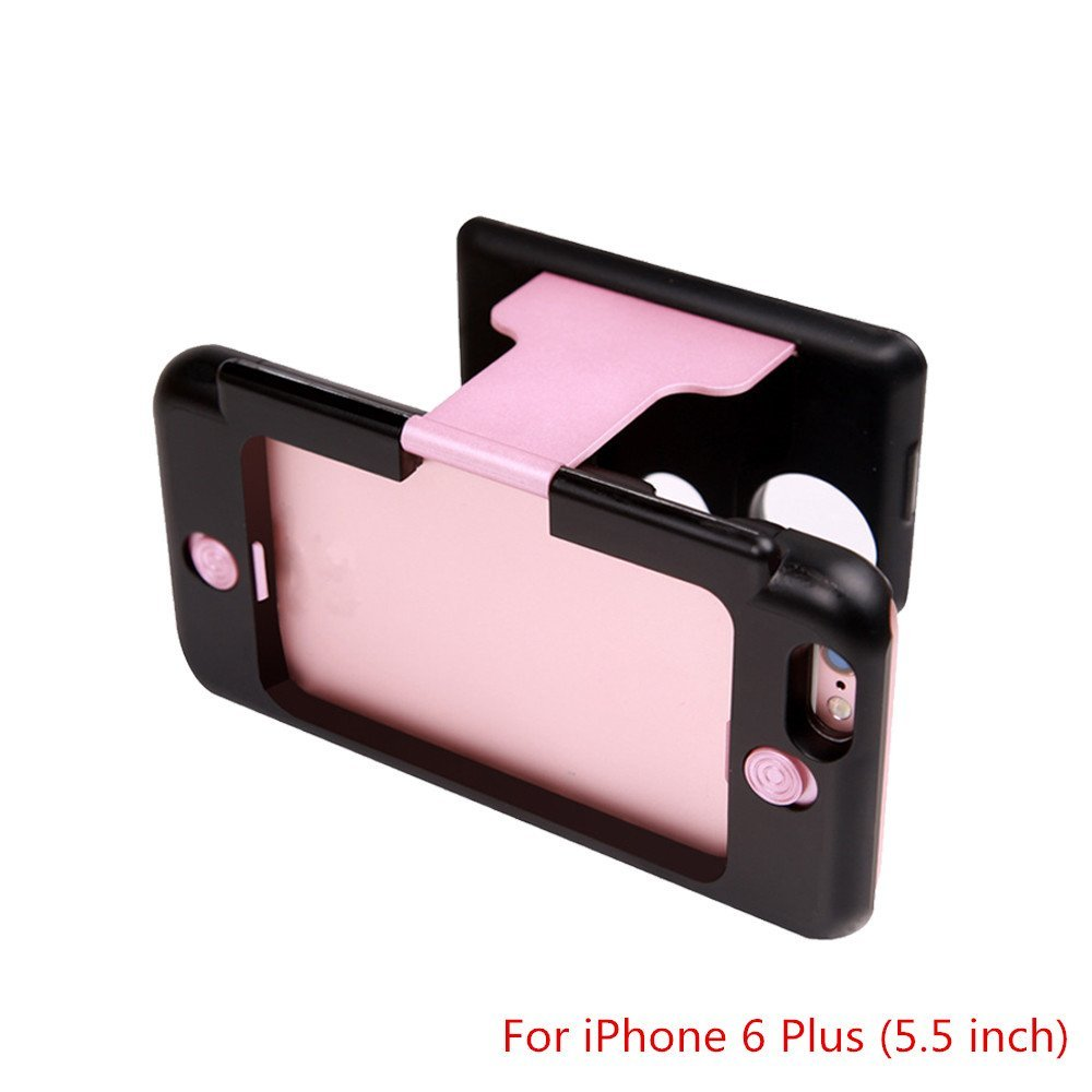 Rose Gold - Mini 3D Virtual Reality Glasses Portable VR Glasses Phone Case 3D Viewer Phone Case Handheld HD VR Virtual Reality 3D Glasses for iPhone 6 6s (for iPhone 6 Plus (5.5 inch)