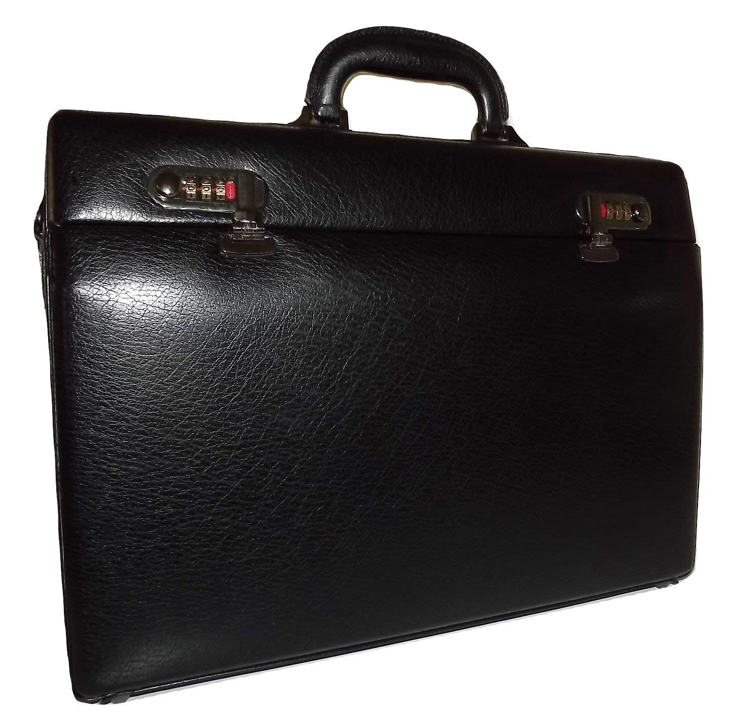 Leather Attache 17-7//8x4-1//4x13 Sold as 1 Each Black