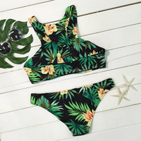 Unique custom design two pieces swimsuit women swimwear