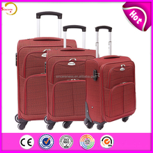 sincere Business travel like king new style big handle soft nylon eva leaves luggage
