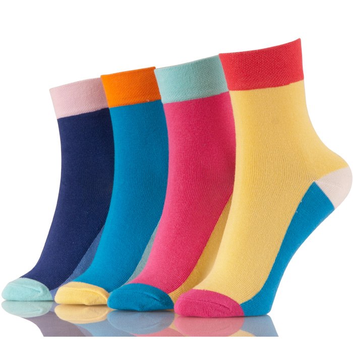 Crazy Color Socks Bright Colored Dress Women Knitted Socks