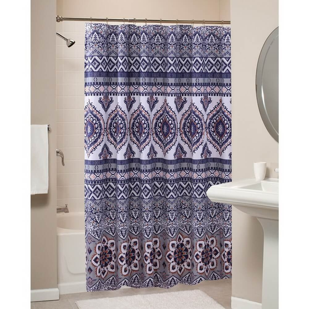 Get Quotations Boho Chic Moroccan Paisley Pattern Grey Orange Fabric Shower Curtain