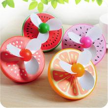 Summer Mini USB Fruit Rechargeable Fan,Portable Flexible Control Speed Fruit Watermelon/Orange/Tomato/Pitaya Mini usb fan gadget