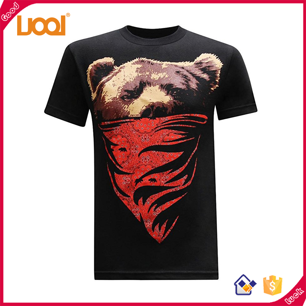 Custom Excellent Material 180g Polyester/ Cotton Anti-Pilling Screen Printing Pet Picture Seamless T Shirt