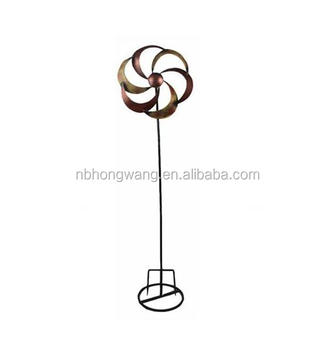 Genial Windmill Stakes Metal Garden Stake Decoration Ornament