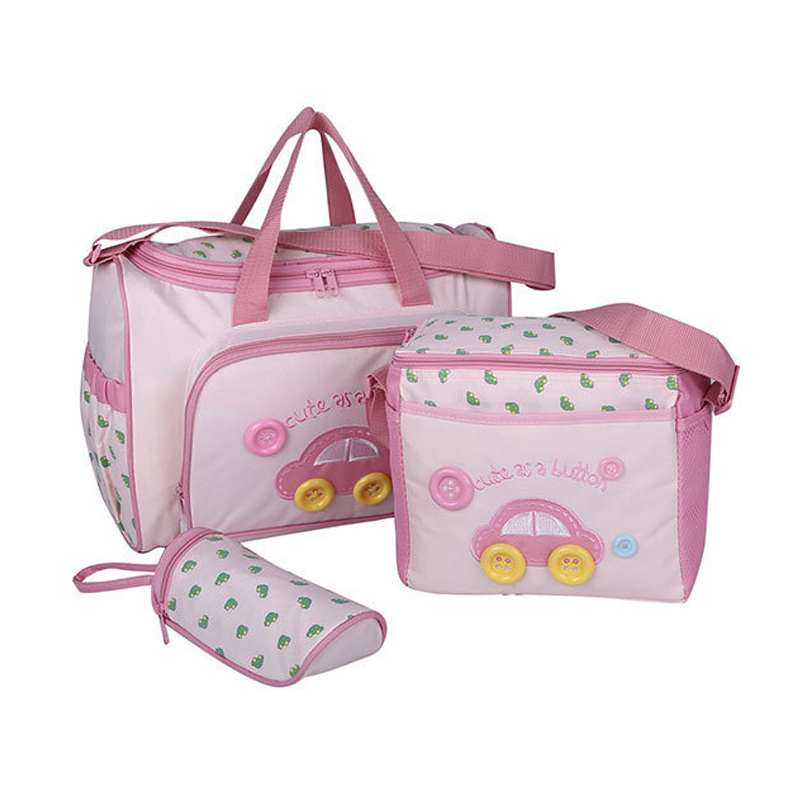 Baby Care 2016 Fashion 4Pcs/set Diaper Bag Mummy Bag Mother Bag For Baby High Quality Baby Changing Bags 3 Colors