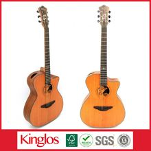 "High Quality Coloured Artistic Solid Wood Acoustic Beginner Guitar size 39""40"" 77"" with colorful design (S41U-009-031)"