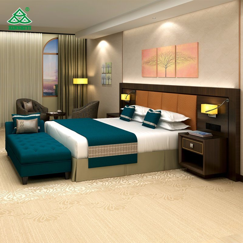 Hilton 5 Star Hotel Furniture Customized Bedroom Furniture