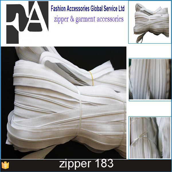 Catena lunga cerniera in nylon nylon coil zipper 10 # cerniera in nylon