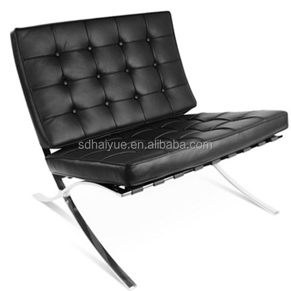 Etonnant Modern Living Room Chair Specific Use And Barcelona Chair Style Lounge  Chairs Black