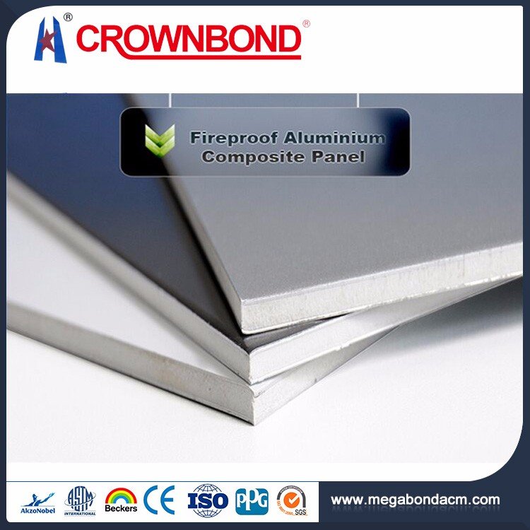 Crownbond Grade B1 a2 fire proof aluminum composite panel and acp / acm,fireproof acm acp building material aluminium