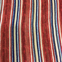 100% polyester chiffon striped colth with gold thread fabric supplier