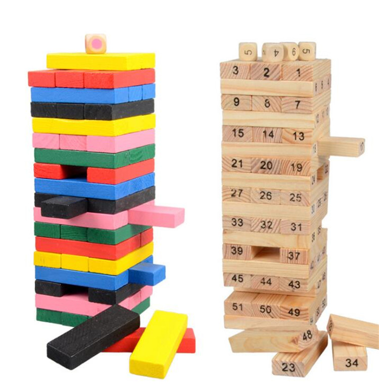 FQ brand wholesale new table game 48pcs mini wooden building blocks bricks toys