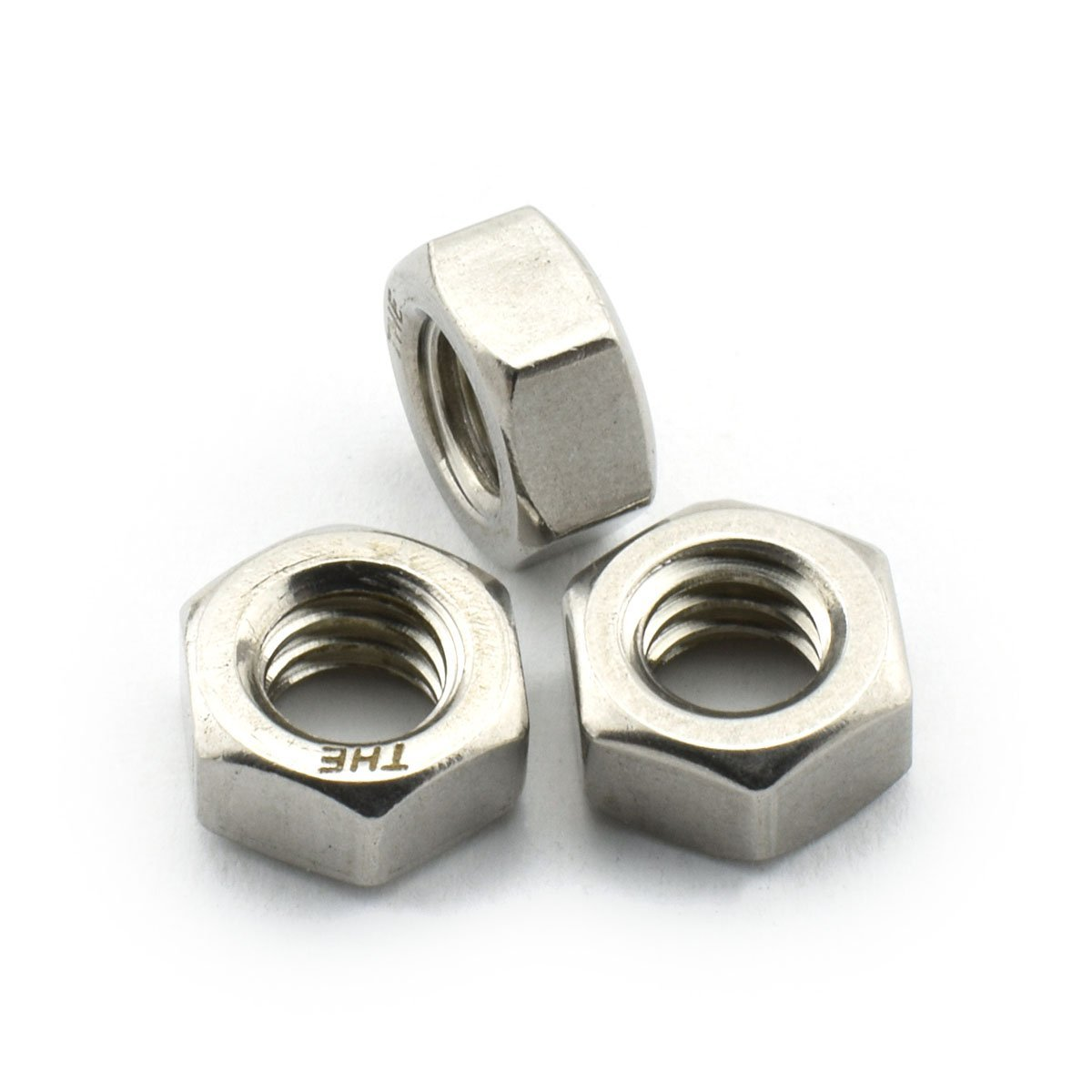 30pcs 1/4-20 Hex Screw Nuts 304 Stainless Steel Hexagon Lock Nuts for Screws Bolts