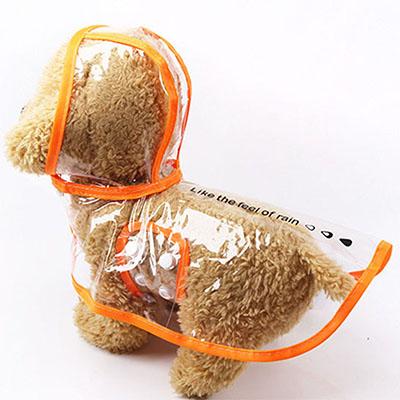 Плащ-дождевик для собак и кошек модный дождевик из ПВХ водонепроницаемая прозрачная одежда для маленьких собак дождевик для собак с капюшо...(Китай)