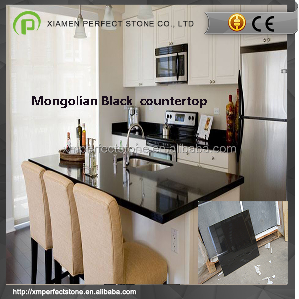 Mongolia black granite countertops