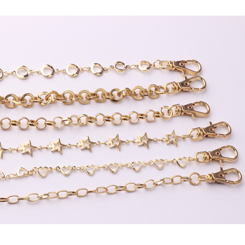 small size star shape chains keychain rings with chain for clothing or bag