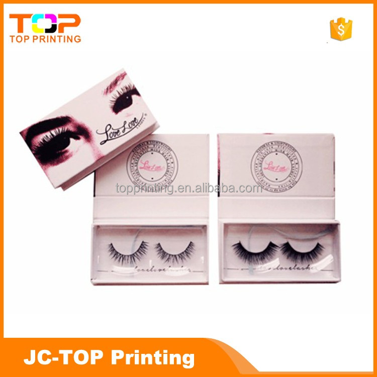 Customized False Eyelash Packaging Box With Magnetic Closure and window