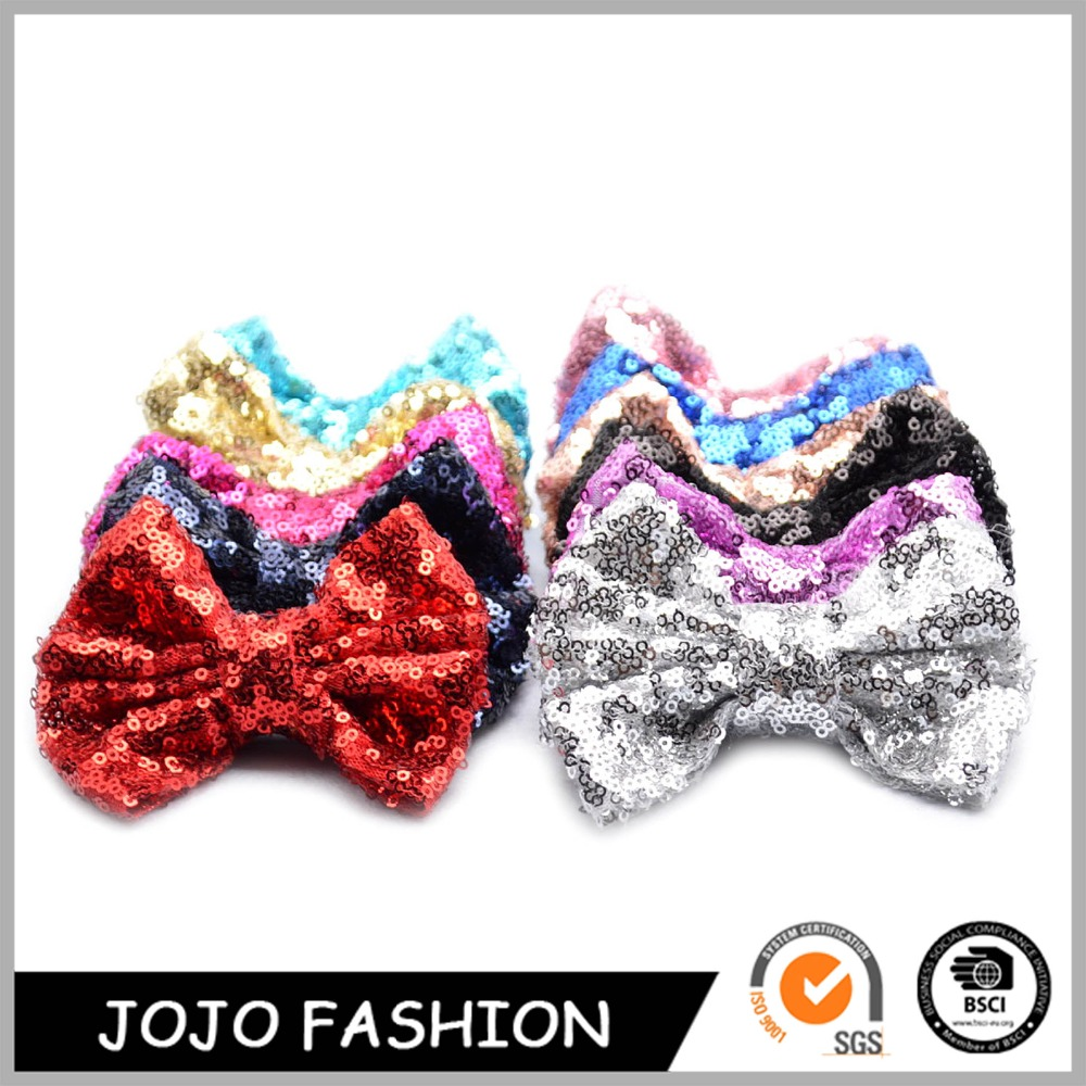 Druzy fashion style clip leather bow hair bow