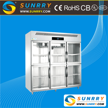 Supermarket Used Glass Door Meat Display Refrigerator Showcase For