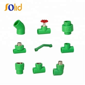 Green White color ppr pipe fittings