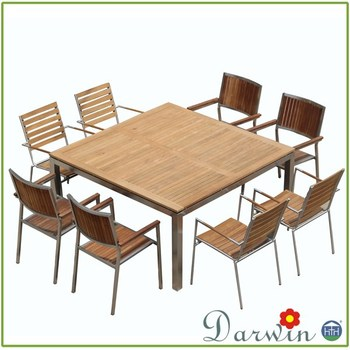 Hotsale Teak Wood Wooden Dining Table And Chairs Clearance