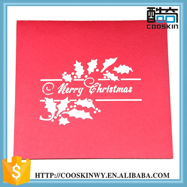 Custom folding luxury decorative 3d make handmade christmas cards